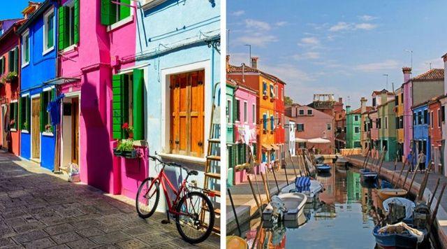 Burano Italia ciudad enamorados