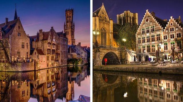 Ciudad romántica Brujas Bélgica
