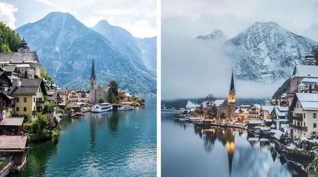 Hallstat Austria ciudad romántica